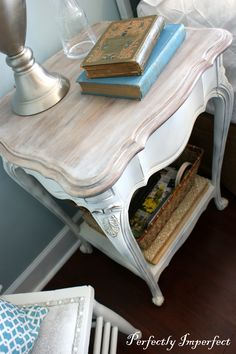 Love the finish on this end table
