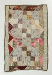 Love this little quilt  ``all very unassuming, leftovers from clothing