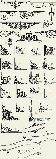 Letterhead Fonts / LHF Americana Ornaments / Golden Era Studios NOT FREE
