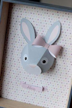 Kit créatif trophée lapin par Alicia et sa maman sur www.idee-creative.fr