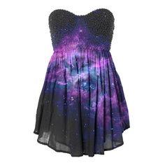 galaxy prom dress ❤ liked on Polyvore featuring dresses, nebula dress, blue dress, galactic dress, planet dresses and blue prom dresses