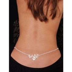 Babe Rhinestone Belly Chain and Lower Back body jewelry