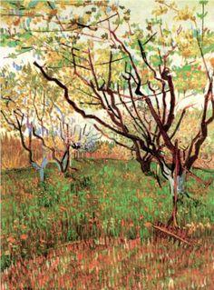 Orchard in Blossom - Vincent van Gogh via Akikuni Shikano
