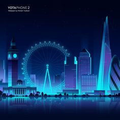Yota phone 2 official wallpapers by Romain Trystram