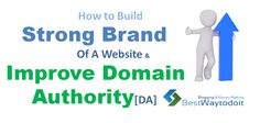 how to increase domain authority ? Branding of website has been recent buzz in online marketing word. Reason was simple, Search engine giant Google has been shifting search preferences slightly pages with strong brand of website. Everyone wants to improve Domain Authority but fever focus on building a brand of a website. #Increase Domain Authority