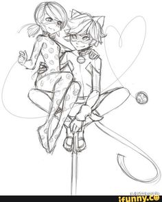 Chat Noir, miraculous ladybug, and ladybug image Cat Sketch, Drawing Sketches, Art Drawings, Meraculous Ladybug, Ladybug Comics, Lady Bug, Anime Miraculous Ladybug, Inspiration Drawing, Ladybug Und Cat Noir