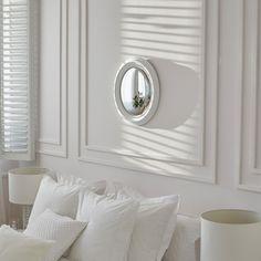 White raised convex mirror - MIRRORS - DECORATION | Zara Home Hungary