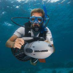 Sea Doo GTI Sea Scooter #Cool, #scooter, #swim, #underwater