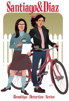Amy Santiago and Rosa Diaz star in their own 60s teen detective series.