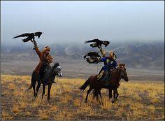 Kazakh falconers