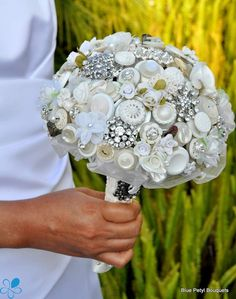 Victorian Jeweled Bouquet - Blue Petyl Bouquets