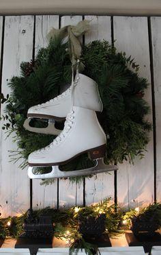 Christmas Mantel-got me some skates to do this!