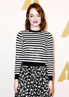 Emma Stone attends the Oscars Nominees Luncheon at The Beverly Hilton on February 2nd, 2015.