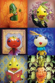 vegetable portraits by laura plansker