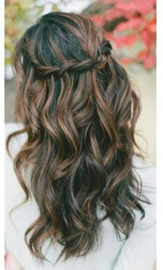 4. Waterfall Braid - 7 Easy Hairstyles for the Busy Bridesmaid ... → Wedding