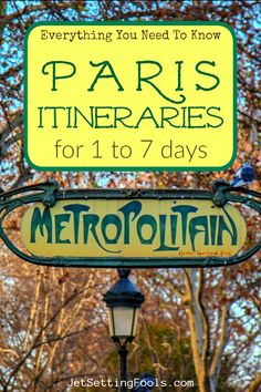 Planning a trip to Paris, France? Use our detailed Paris Itineraries - for 1 to 7 days - to plan your perfect Paris vacation! Paris Travel Tips, Budget Travel, Travel List, Amazing Destinations, Europe Destinations, Paris Itinerary, Ultimate Travel, France Travel, Travel Guides
