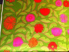 Swedish vintage fabric from the 60s. Heavy cotton. Great condition with fantastic colors.