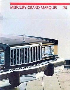 1985 Mercury Grand Marquis Brochure Canada Ford Ltd, Mercury Marquis, Mercury Cars, Grand Marquis, Marauder, Car Advertising, Ford Motor Company, Station Wagon, Grills