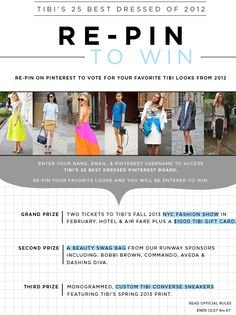 Tibi's 25 Best Dressed of 2012: Re-Pin to Win Sweepstakes | Tibi - Official Site
