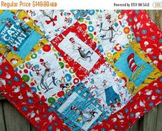 The Magical Cat in the Hat Quilt Kit by Robert Kaufman Fabrics ... : cat in the hat quilt kit - Adamdwight.com