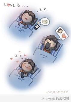 While browsing the net for treasures we found a gold mine of clever and cute drawings made by HJ Story with love drawings and love messages Hj Story, Love Story, Cute Love, Love You, My Love, Cute Goodnight Texts, Goodnight Texts To Boyfriend, Mahal Kita, 4 Panel Life