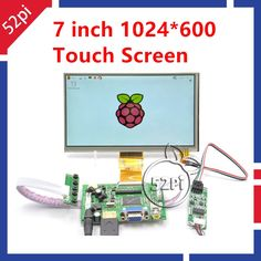 "61.41$  Watch now - http://ali1zm.worldwells.pw/go.php?t=32700666481 - ""7"""" inch 1024*600 LCD Display for Raspberry Pi HDMI+VGA+Driver Board+Touch Screen"""