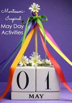 Beltaine: Montessori-Inspired May Day Activities, for Beltane, Spring Activities, Activities For Kids, Physical Activities, Calendar Activities, Easter Activities, Outdoor Activities, Block Calendar, May Day Baskets