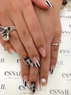 Black nails in any form are so hot this fall #2013  #trendynails
