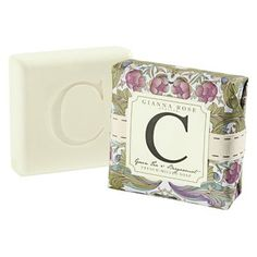C is for Cat. Or Catherine. Or Carson. This Gianna Rose triple-milled soap is engraved with the lettler C and scented with a clean crisp scent of Green Tea and Bergamot. Available in letters A, B, C, D, E, G, H, I, J, K, L, M, N, P, R, S, T, V, W and Y.