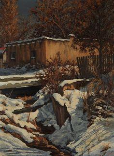 """""""Santa Fe Winter Scene"""""""
