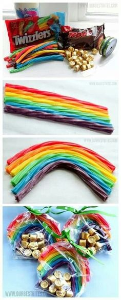Pot of gold & rainbow  Twizzlers & Rolo candies