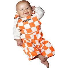 Game Bibs Tennessee Volunteers Infant Overalls - Tennessee Orange/White