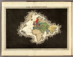 Old map showing the perception of the world just after the discovery of America.