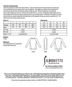 Silhouette Patterns, Inc. - Abbeys Top