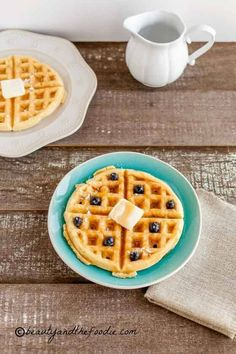 Low Carb Buttermilk Waffles. grain free, low carb and paleo