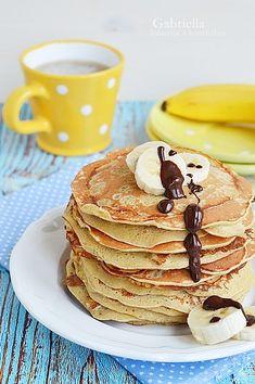 Zabpehelylisztes-banános amerika palacsinta Healthy Food, Healthy Recipes, Pancakes, Low Carb, Snacks, Foods, Cooking, Breakfast, America