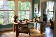 Pin for Later: A Brilliant New Use For Salvaged Doors  This kitchen table was made out of a door — the sleek finish makes it fit right in with the rest of the decor. Source: Apartment Therapy