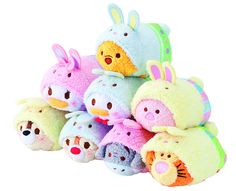 Disney's Tsum Tsum 2015 Easter Collection - 8 Mini Plushes
