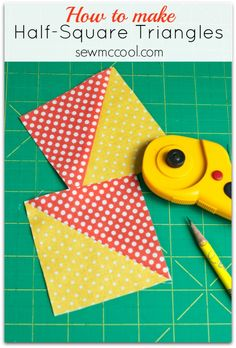 Learn how to sew half-square triangles with this simple method that will guarantee your HST units will be perfect every time! Great beginner quilting tips.
