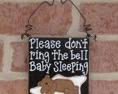 I NEED one of these...If I ever catch the kids that come around and doorbell ditch us while Bug is napping I swear I am gonna have to whop some butt!