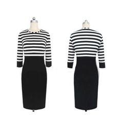 nice Janecrafts Striped Dress (M) -1. 100% Brand New. 2. Casual design but bodycon cut which not only show off   your charming curves but also comfy to wear for any occasion,   such as outdoor party or formal party. 3. Striped print on the top and high waist design are the permanent popular styles in Morden time. -http://weddingdressesusa.com/product/janecrafts-striped-dress-m/