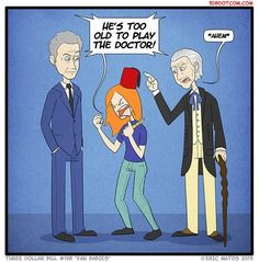 """Seriously, those people are obnoxious. Its time things returned to """"Doctor Who normal"""" Its time to repect him again not see him as a clown."""