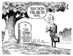 Veteran Snafu - John Darkow, Columbia Daily Tribune. He is syndicated internationally by Cagle Cartoons.