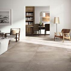 tegels: Concrete Mud by Nuovocorso - Home Decor Flooring Best Flooring, Diy Flooring, Flooring Options, Kitchen Flooring, Kitchen Cabinets, Grey Kitchen Tiles, Grey Tiles, Ceramic Floor Tiles, Porcelain Tiles