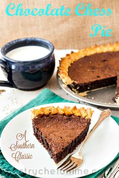 There's not much better than a richly chocolate Southern chocolate chess pie. Unfortunately, they can be a bit hard to find. This one, using dark brown sugar and espresso powder to reinforce and deepen the chocolate flavor, lives up to its name. If you're looking for an easy chocolate pie recipe, look no further than old-fashioned chocolate chess pie! | pastrychefonline.com
