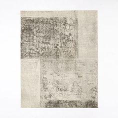 Distressed Rococo Wool Rug - Platinum #westelm