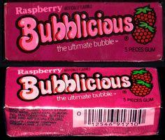 Bubblicious - Raspberry - bubble gum pack - by . 80s Candy, Retro Candy, 90s Childhood, Childhood Memories, Bubblicious Gum, Puerto Rico, 80s Food, Candy Craze, Bubble Yum