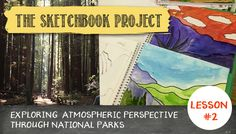 The Sketchbook project: How to draw & paint atmospheric perspective + free worksheet