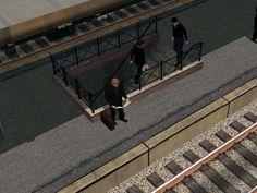 Bahnsteigtreppen für Bahnsteige der Epoche III