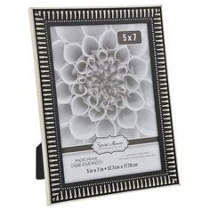 Special Moments Art Deco Black and Silver Plastic Photo Frame, 5x7 in.